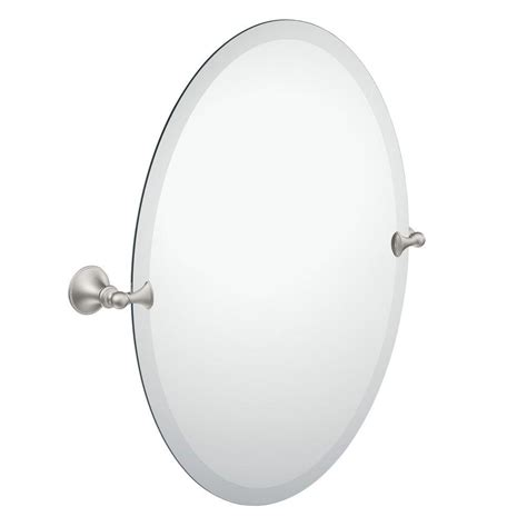 oval pivoting bathroom mirror moen glenshire 26 in x 22 in frameless pivoting wall