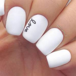 Image Gallery matte white acrylic nails