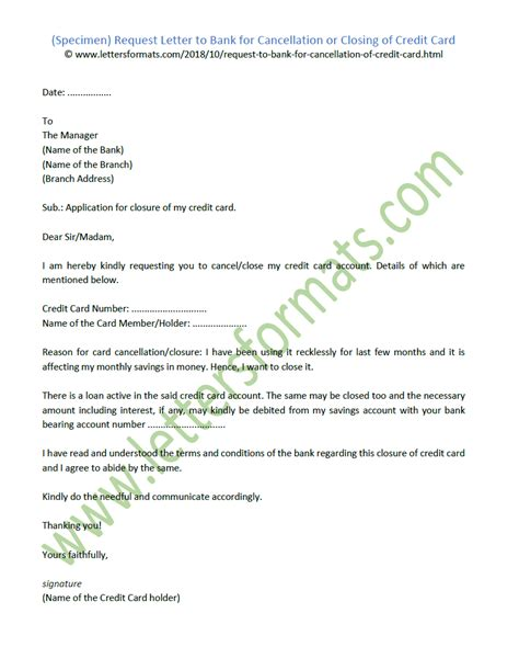 request letter  bank  cancellation  closing