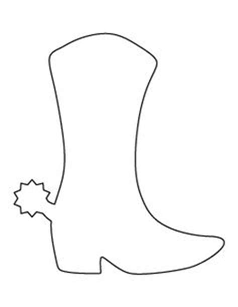 boot template bull pattern use the printable outline for crafts creating stencils scrapbooking and