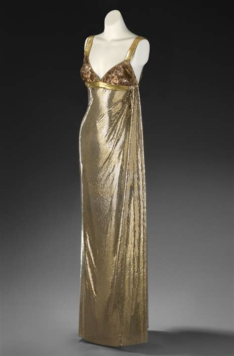evening dress gianni versace milan fashion house