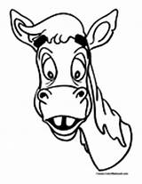 Mule Coloring Pages Mules Colormegood Animals sketch template