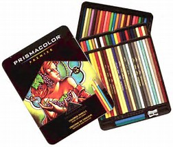 Image result for image of prismacolor pencils tin