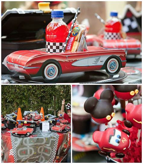 heart racing disney cars themed birthday party boys