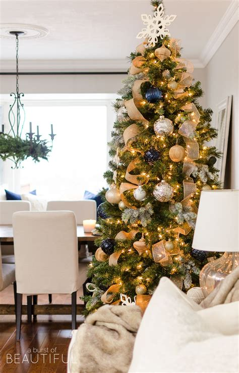 navy  gold christmas tree holidays gold christmas