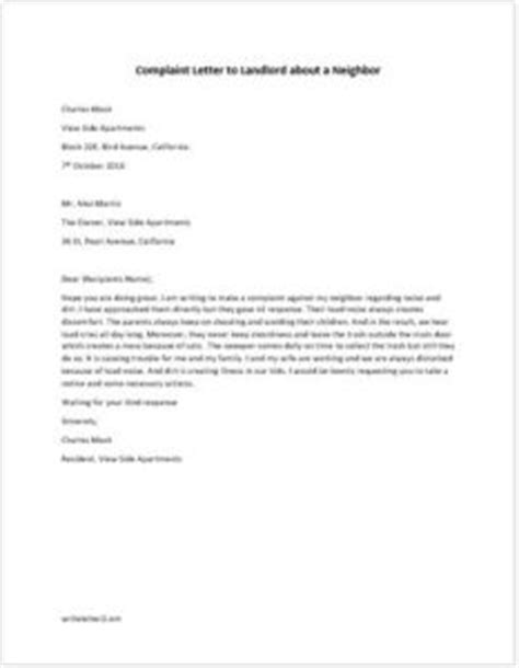 Complaint Letter to Landlord about a Neighbor