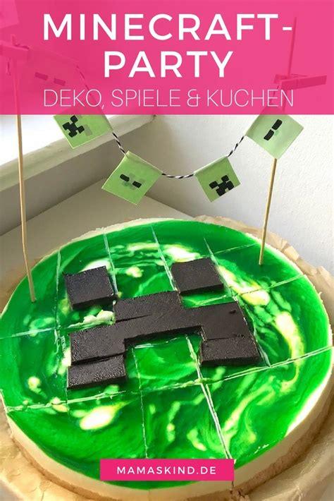 Coole Kuchen Ideen by Minecraft Zum Kindergeburtstag Mit Deko Spielen