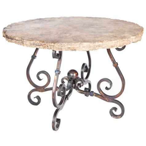 round marble table base pictured here is the french dining table with wrought iron