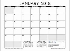 Januari 2018 kalendar 1 2019 2018 Calendar Printable