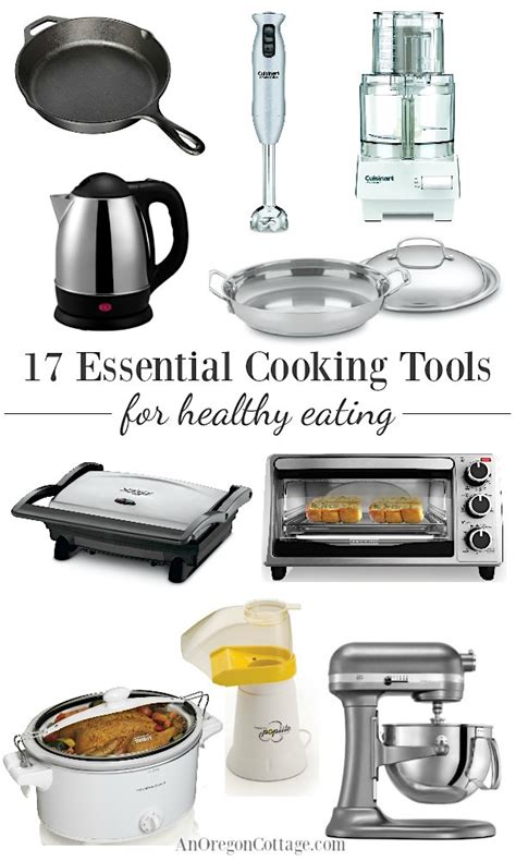 tools cooking essential appliances healthy eating cookware kitchen utensils anoregoncottage