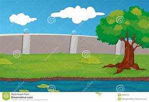 Empty park scene stock vector. Image of lily, outside ...