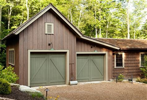 barn inspired garage attaches   main house