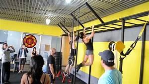 Rutina fran 1 crosstraining golds gym - YouTube
