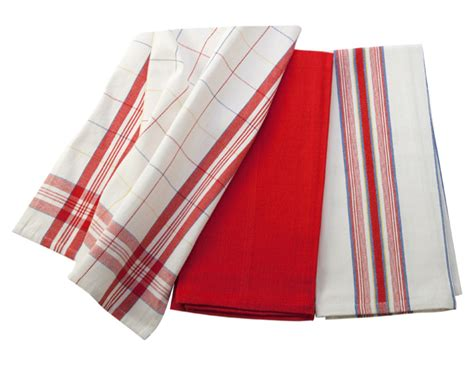 le creuset kitchen towel set  piece cherry red cutlery