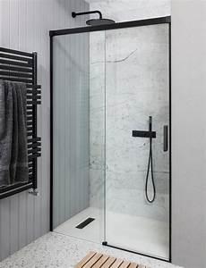 Crosswater Design  Soft Close Single Slider Shower Door