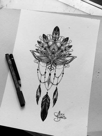 Catcher Dream Tattoo Tattoos Drawings Catchers Lace