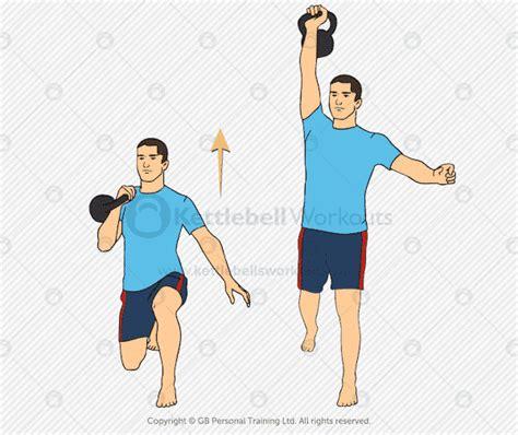 lunge kettlebell press exercise exercises
