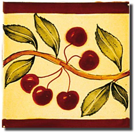 frise faience cuisine carrelage décoration frise senteurs de provence cerise motif design faïence de provence