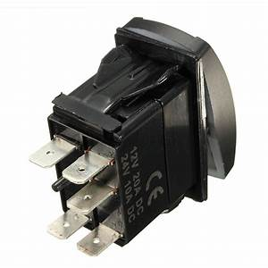 12v 40a 5 Pin Led Fog Light Laser Rocker Switch Wiring