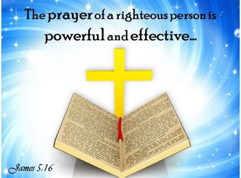 james   prayer   righteous person powerpoint