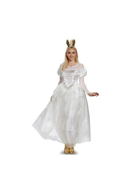 alice    glass white queen women costume