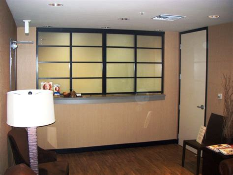 medical office small reception window project space