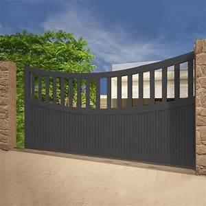 Portail Alu Coulissant 3m : 15 pingles portail aluminium coulissant incontournables ~ Edinachiropracticcenter.com Idées de Décoration