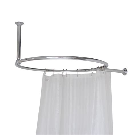 luxury oval chrome plated shower curtain rail with