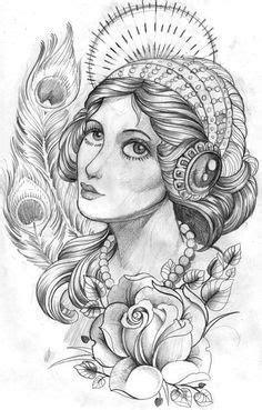 sexy evil girl Fantasy Pencil Sketches   angel warrior