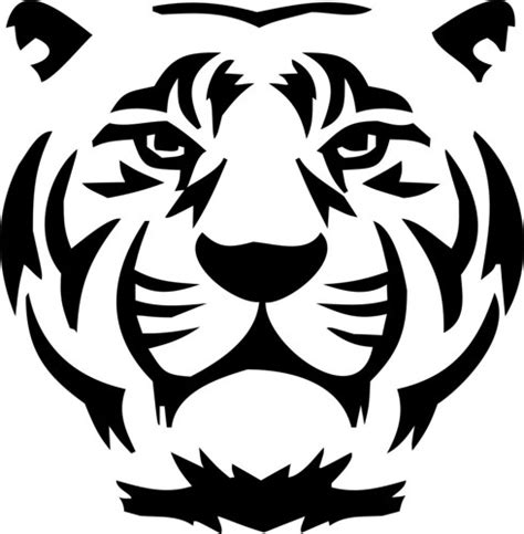 simple tiger drawing face easy   litle pups