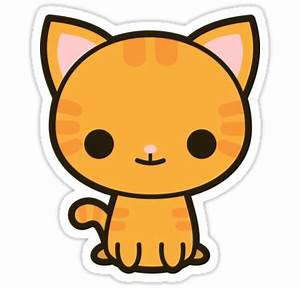"""""""Kawaii ginger cat"""" Stickers by peppermintpopuk Redbubble"""