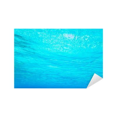 foto de Vinilo Pixerstick Azul turquesa visión bajo el agua de la