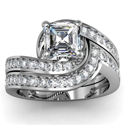 54 best asscher shaped rings images on pinterest unusual