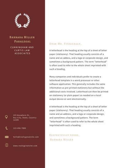customize  law firm letterhead templates  canva