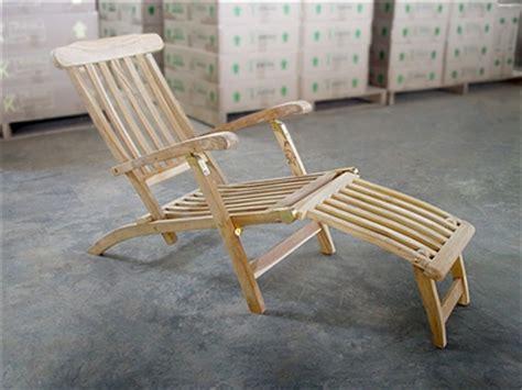 teak steamer chair b c
