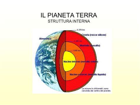 il pianeta terra struttura interna ppt - Struttura Interna Della Terra Riassunto