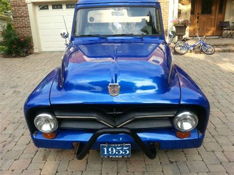 Purchase Used 1954 Ford Pickup Truck. Metallic Blue Paint