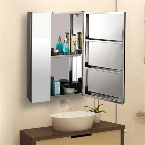 Bathroom Cupboard With Mirror by Stainless Steel Bathroom Doors Mirror Storage