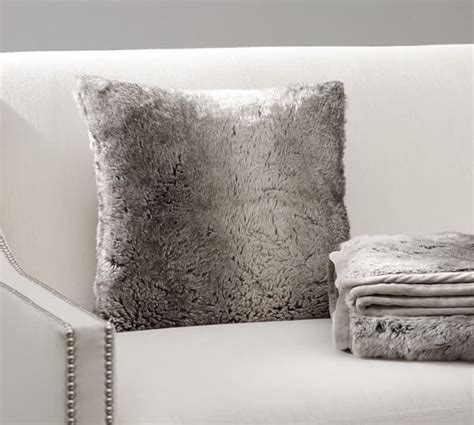 Beaded Ombre Pillow Cover Pottery Barn Living Room by Faux Fur Pillow Cover Gray Ombre Pottery Barn