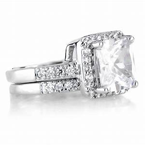15 best ideas of platinum cubic zirconia wedding rings for Platinum princess cut wedding rings