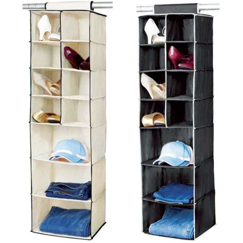 Wardrobe Clothes Storage by 7 Shelf Hanging Organiser Wardrobe Clothes Tidy Shoes