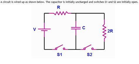 Solved What The Voltage Across Capacitor Immedi