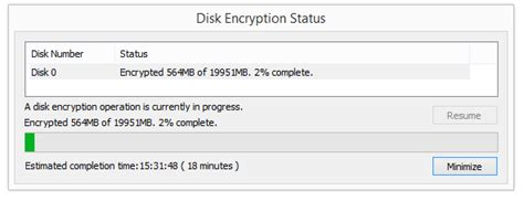how do i pause a disk encryption operation powered