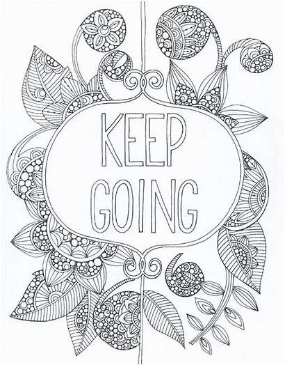 Coloring Adult Printable Zentangle Quote Sheets Positive