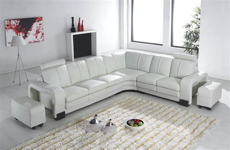 canape relax angle deco in canape d angle en cuir blanc avec tetieres