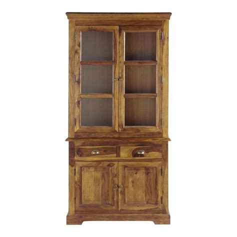 Wooden China Cabinet by Solid Sheesham Wood China Cabinet W 100cm Lub 233 Ron