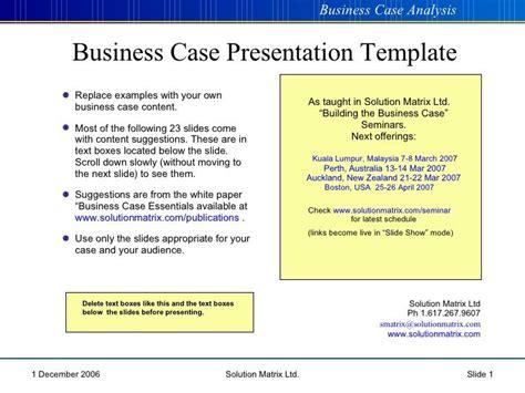 business case  case  business