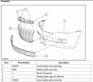 2007 Lincoln Navigator  A Diagram Of How To Remove My Oem Upper