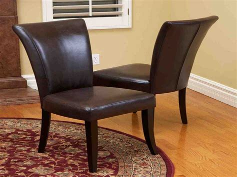 dining chairs room leather brown