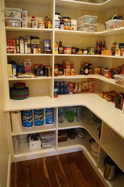 pantry idea like the deeper shelves on the bottom i would make the bottom shelf on the top